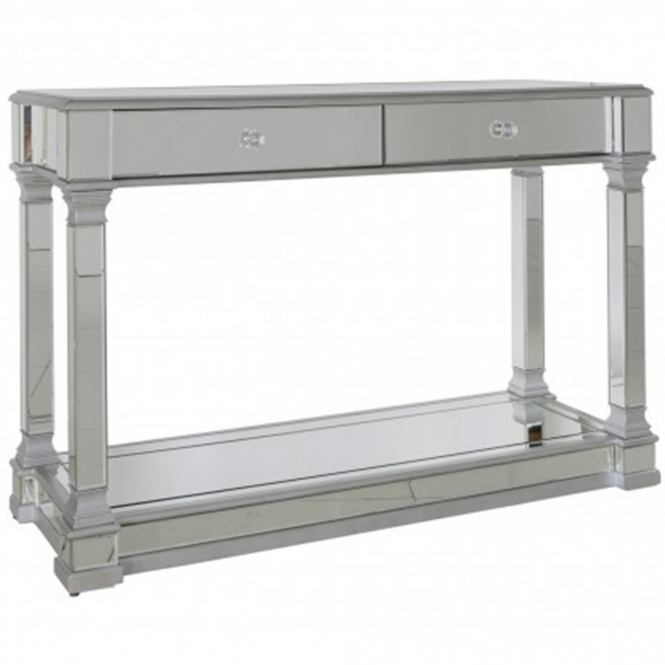 Livorno Silver Mirrored Console Table