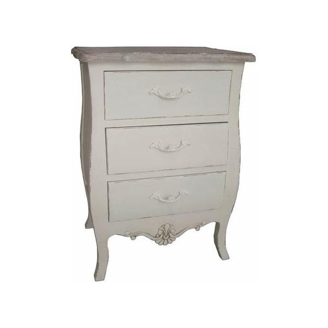 Loire Antique French Style Bedside Chest