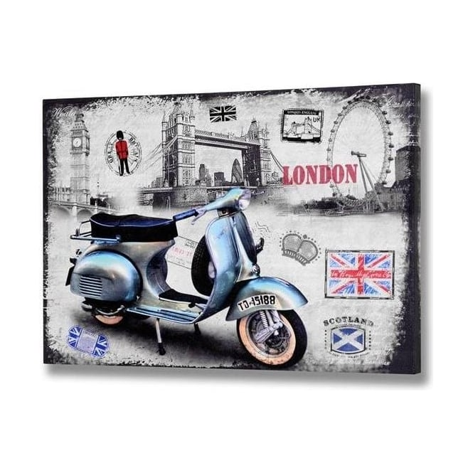 London Blue Vespa Canvas