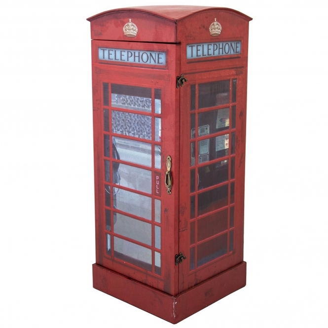 London telephone box display cabinet contemporary for Designer furniture london