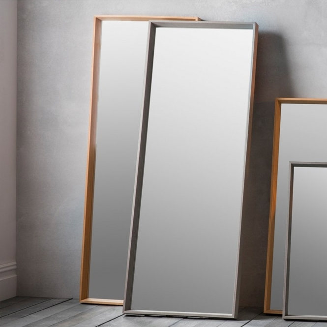 Long Grey Comet Wall Mirror