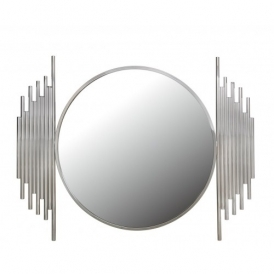 Lorent Polished Steel Wall Mirror