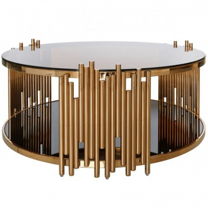 Lorent Rose Gold Coffee Table