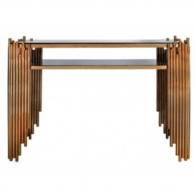 Lorent Rose Gold Console Table