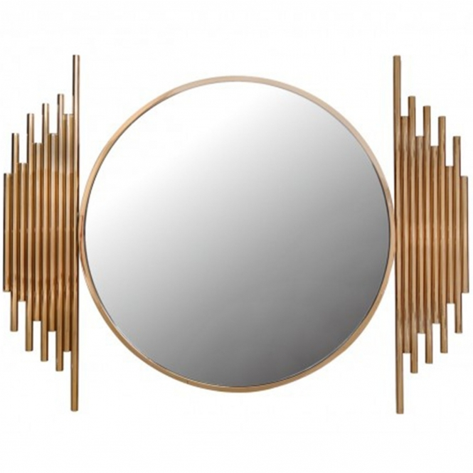 Lorent Rose Gold Wall Mirror
