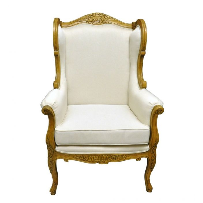 Louis antique French Style Wingback Chair | Shabby Chic