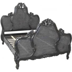 Louis Rattan Antique French Style Bed