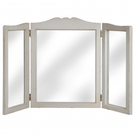 Louis Shabby Chic 3 Way Dressing Mirror