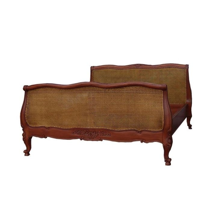 Louis Xv Rattan Antique French Bed A Fantastic Addition In