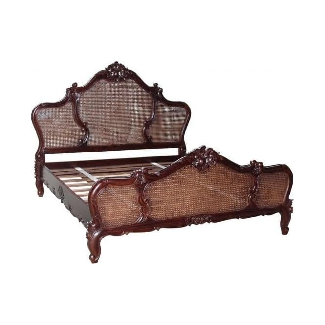 Louis XV Rattan Antique French Style Bed