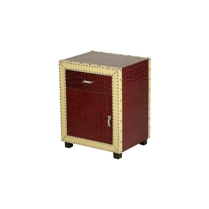Lounge Lizard Red Bedside Cabinet
