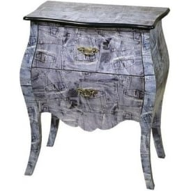 Lounge Lizard Shabby Chic Bedside Cabinet