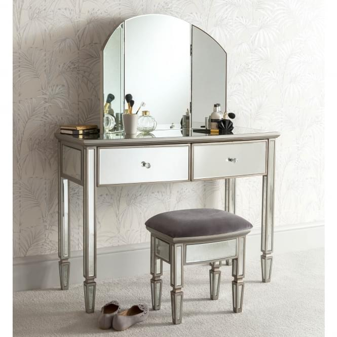 Louvre Mirrored Dressing Table Set