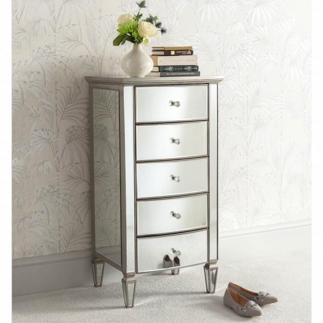 Louvre Mirrored Tallboy Chest