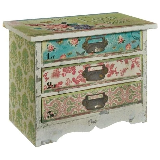 Love Flowers Shabby Chic Chest