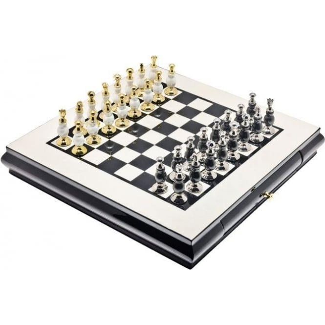 Luxury Black & Gold Chess Set