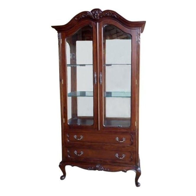 Mahogany Antique French Style Display Cabinet