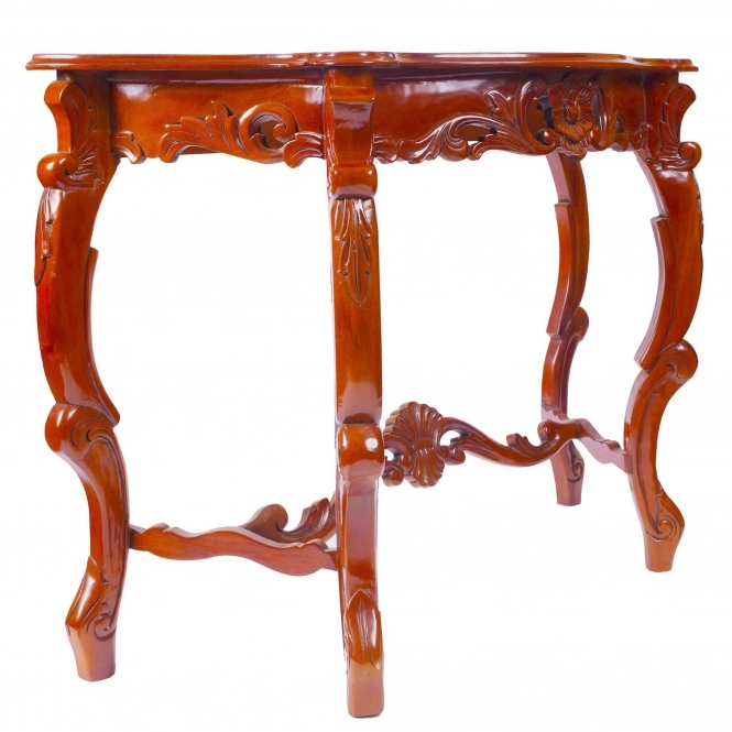 Mahogany Antique French Style Large Console Table