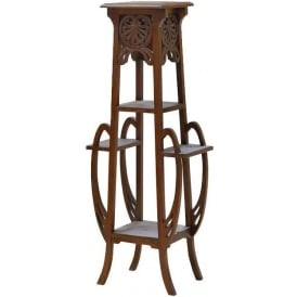Mahogany Antique French Style Plant Stand