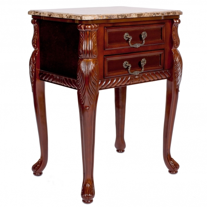 Mahogany Antique French Style Side Table