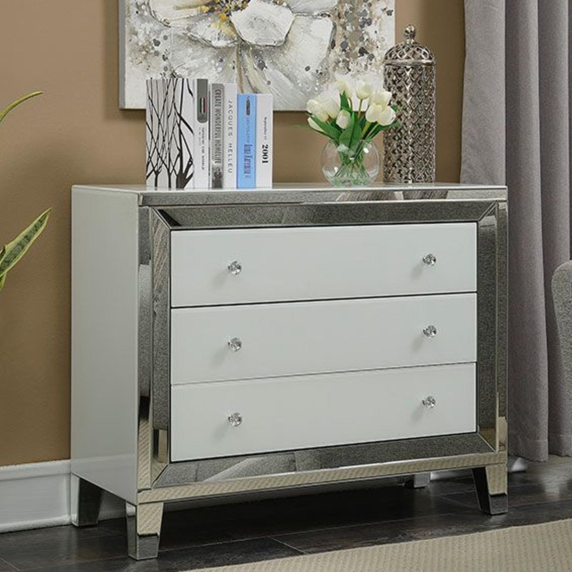Malibu 3 Drawer Chest Mirrored Chest Mirror Bedroom Furniture