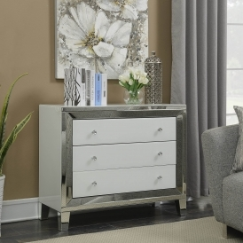 Malibu Mirrored 3 Drawer Sideboard