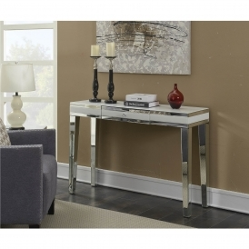 Malibu Mirrored Console Table