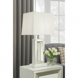 Malibu Mirrored Table Lamp