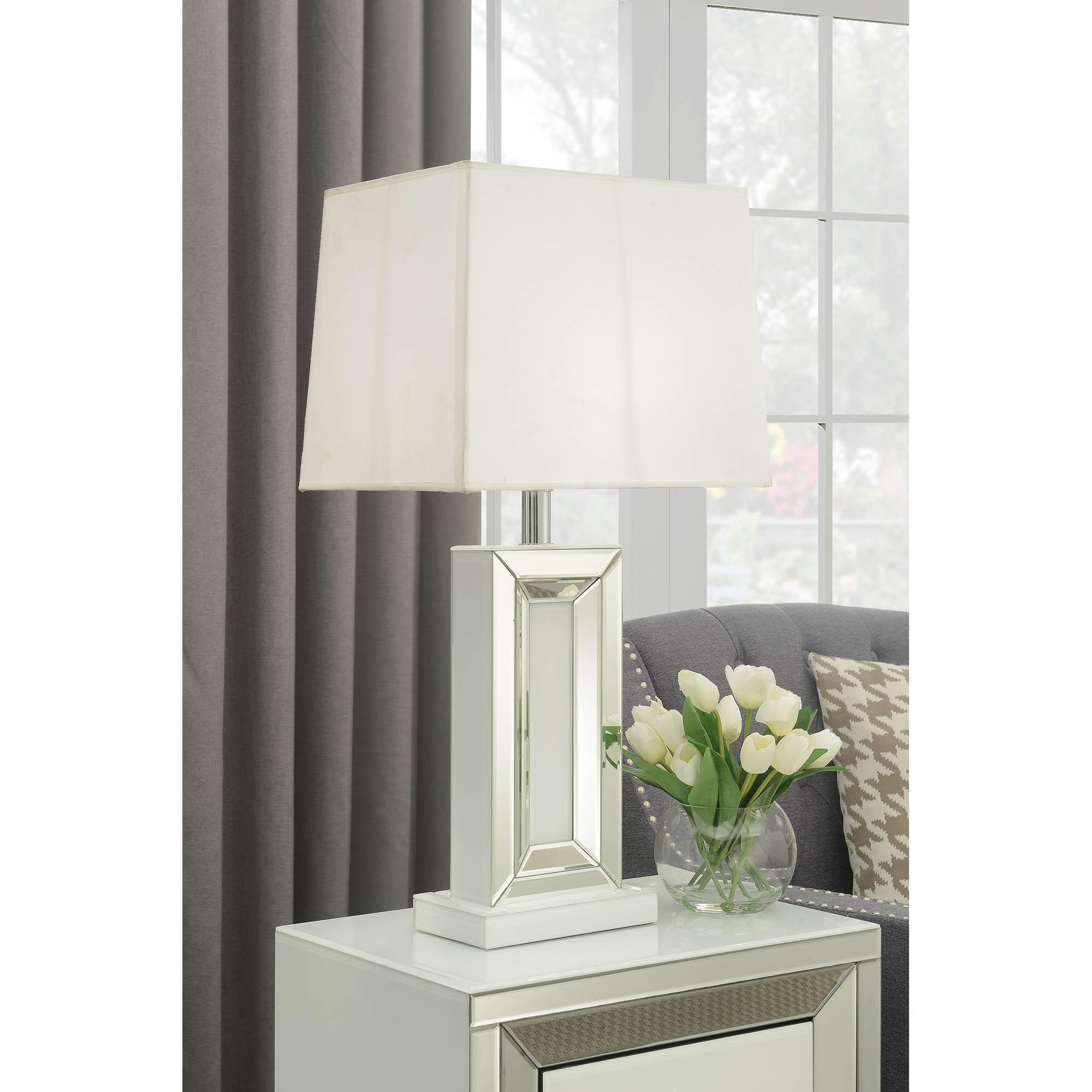Malibu Mirrored Table Lamp Lamp Homesdirect365