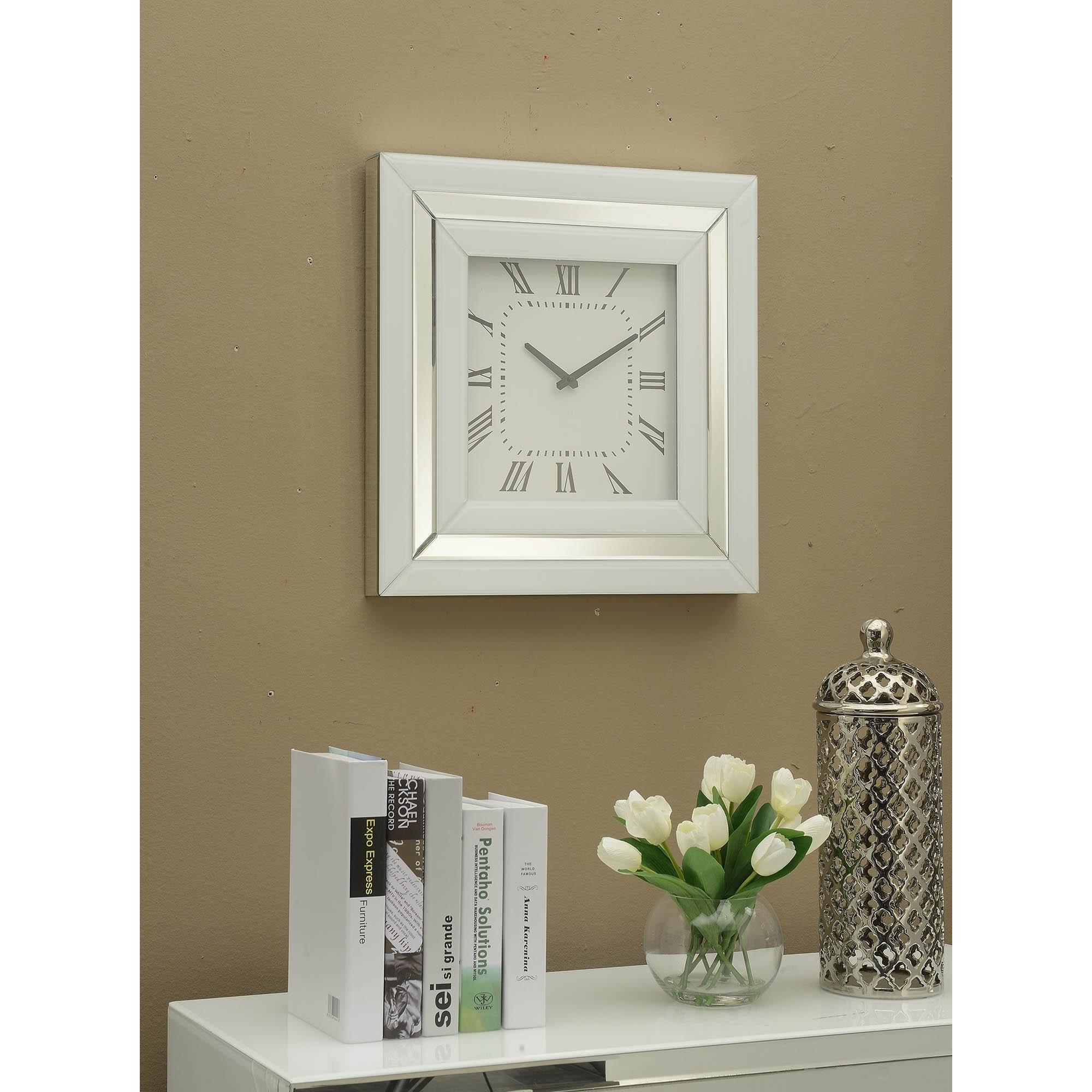Malibu Mirrored Wall Clock Wall Clock Homesdirect365