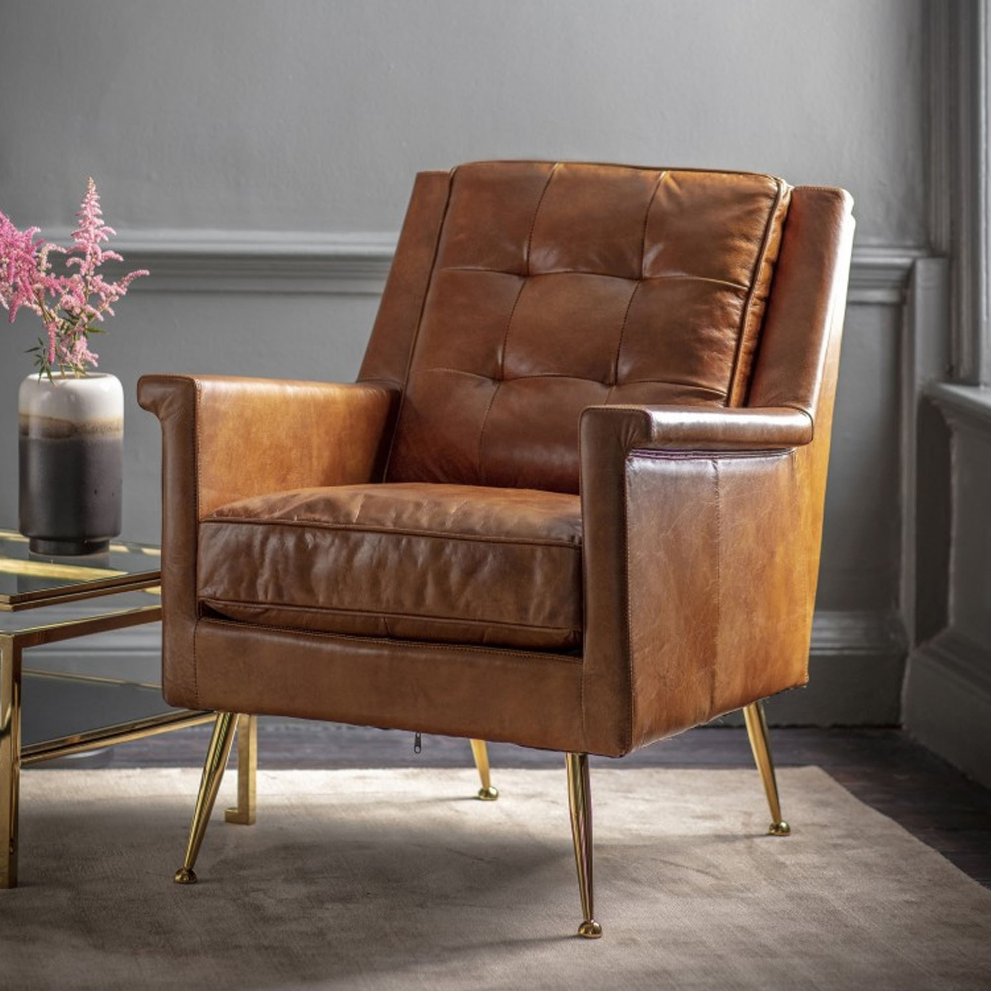 Manero Armchair Brown Leather Leather Arm Chair Brown Leather Chair