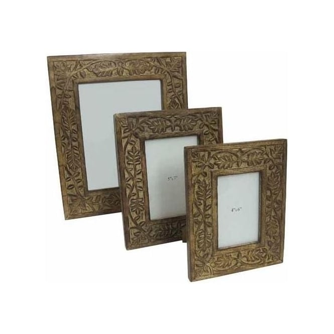 Mango Wood Set Of 3 Photograph Frames