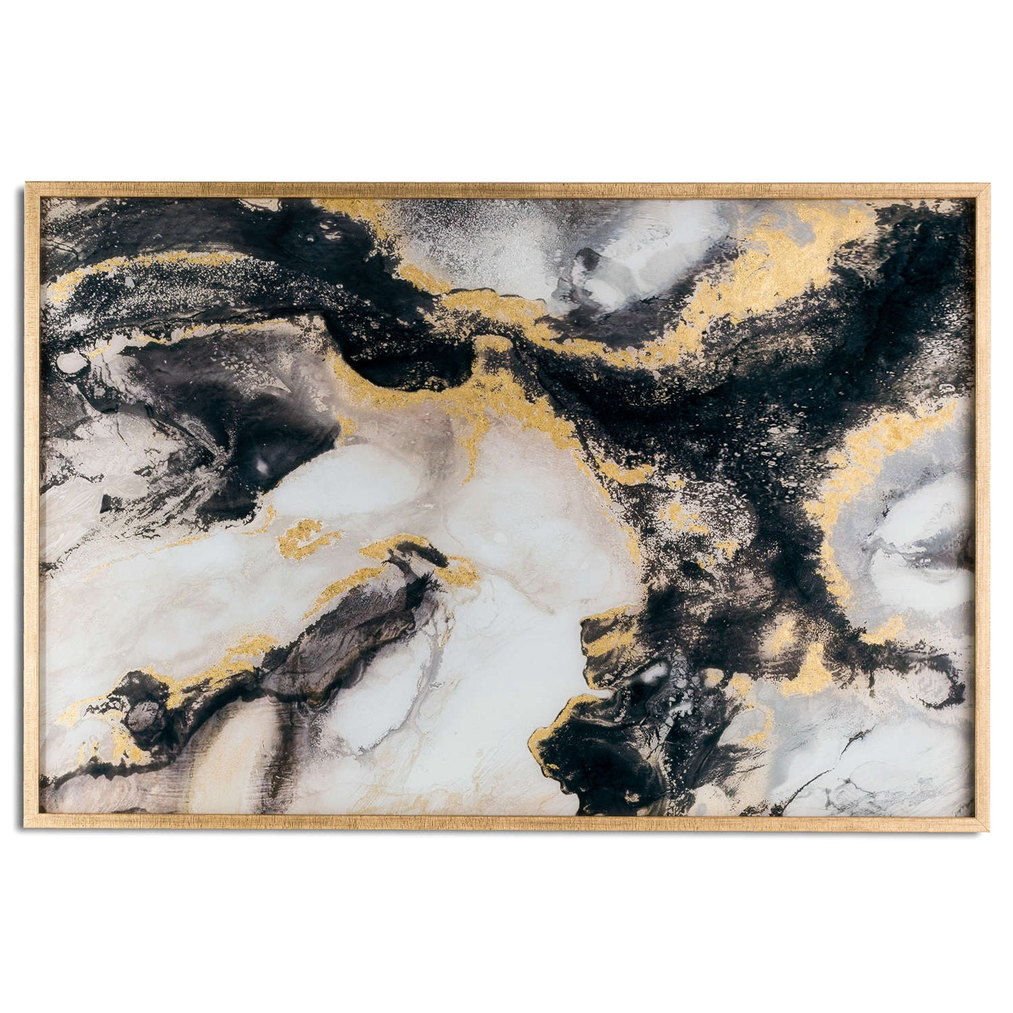 Marble Effect Black And Gold Glass Image Home Accessories Pictures