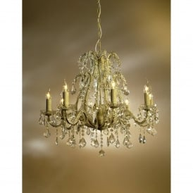 Marie Therese Cream Crack Antique French Style Chandelier