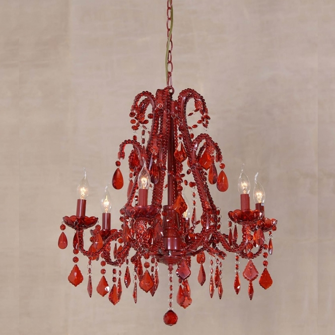 Marie Therese Red Antique French Style Chandelier
