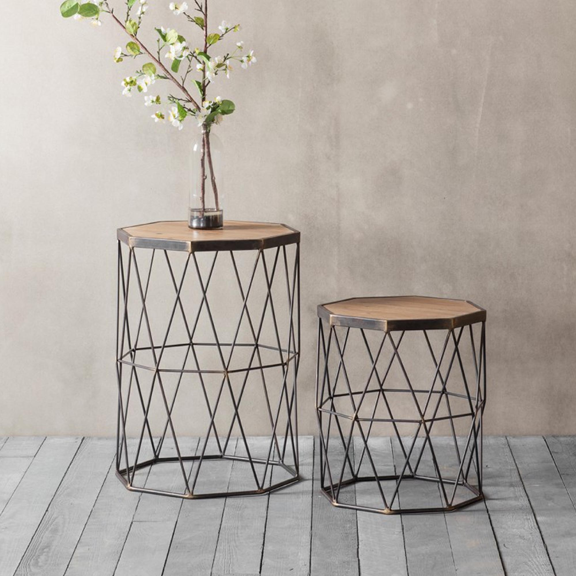 marshal side table set of 2 p