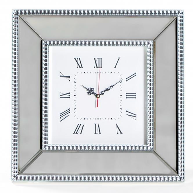 Mayfair Mirrored Wall Clock Glass Mirrored Accessories