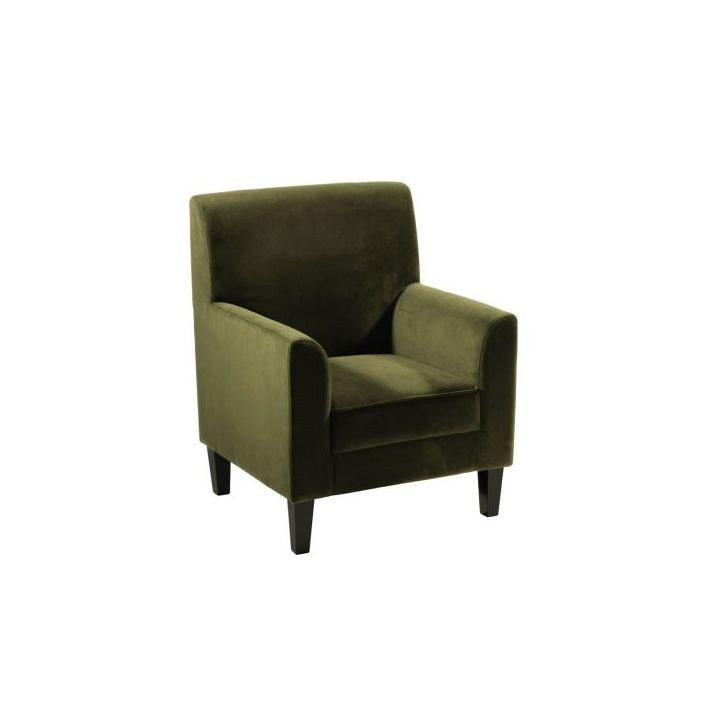 Medan Dark Green Velvet Accent Chair