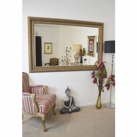 Medium Gold Antique French Style Mirror