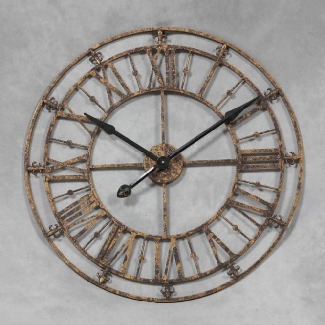 Medium Rustic Antique French Style Wall Clock