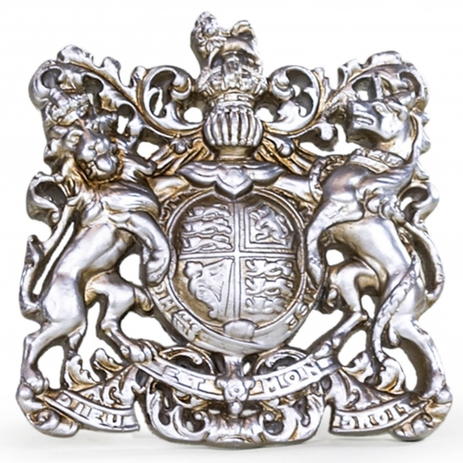 Medium Silver Coat of Arms Wall Plaque