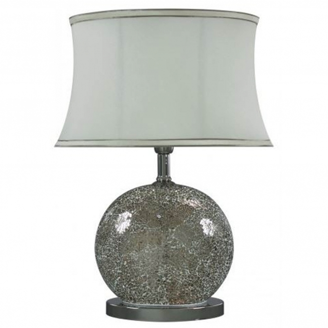 Mercury Mosaic Oval Table Lamp