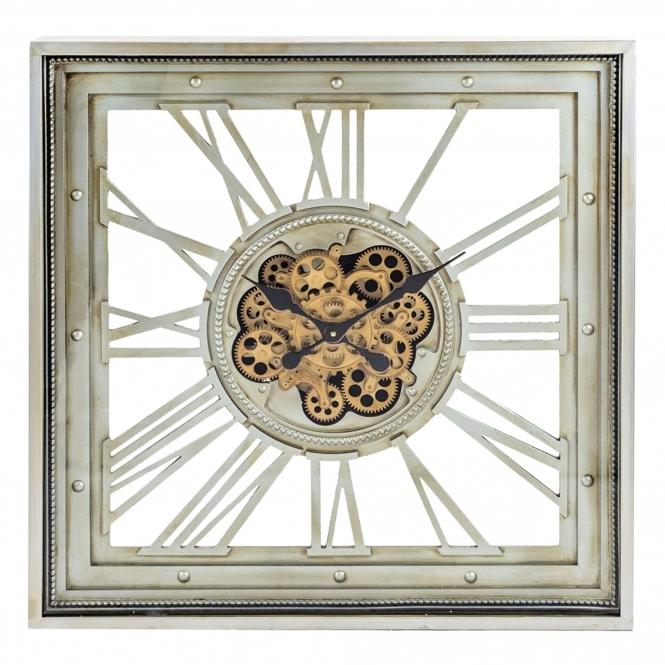 Metal Framed Skeleton Gears Wall Clock Homesdirect365 Clocks