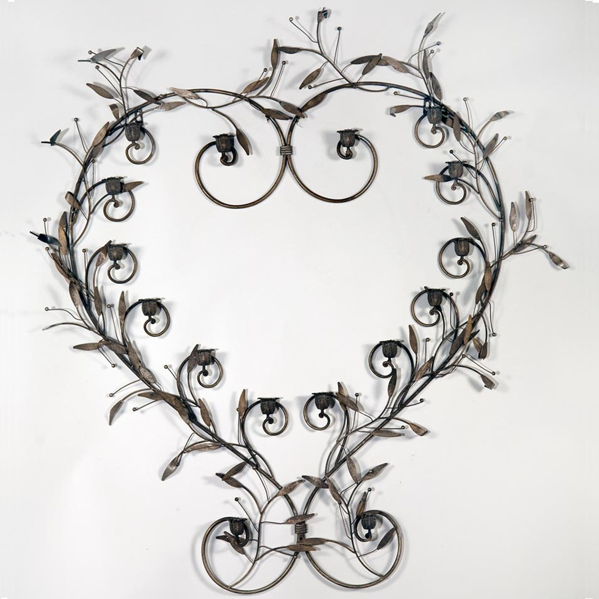 Metal Heart Shaped Antique French Style Candle Holder Candle Holders