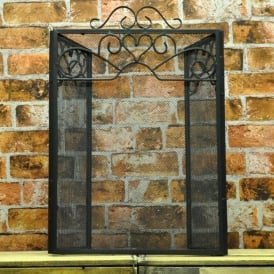Metal Winged Shaped Firescreen