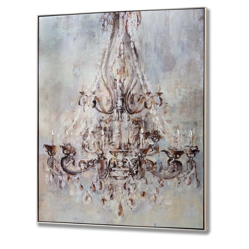 Metallic chandelier wall art painting art homesdirect365 aloadofball Gallery