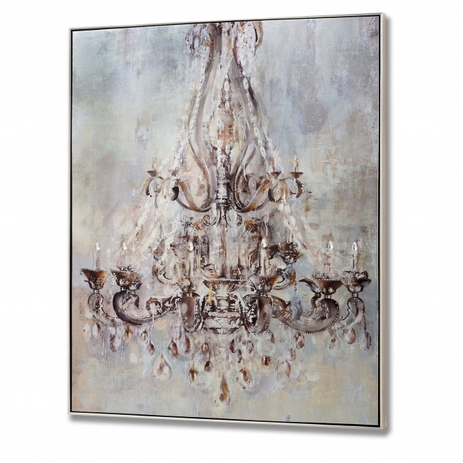 Metallic Chandelier Wall Art