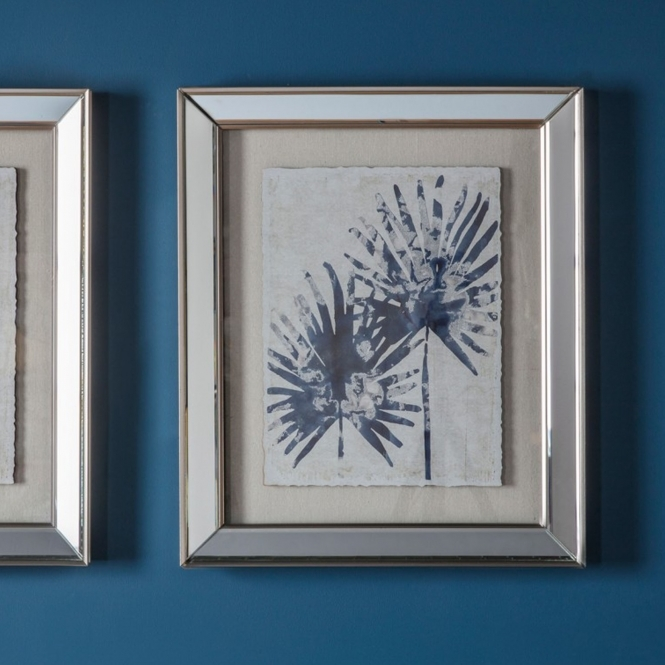 Midnight 2 Leaf Framed Art