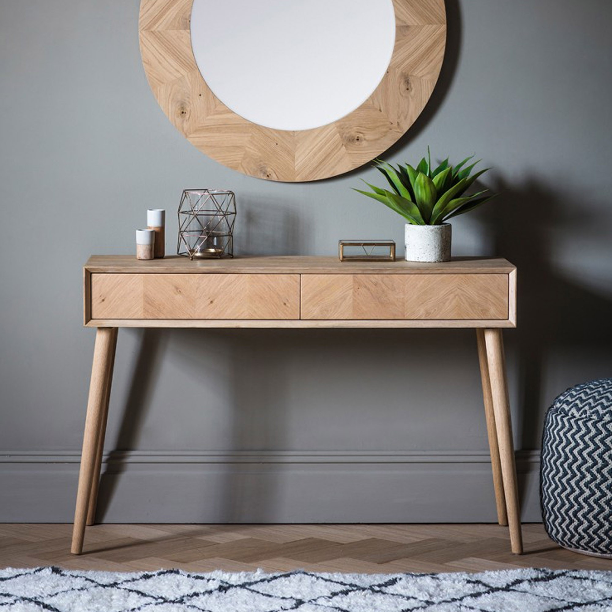 Milano 2 Drawer Console Table Wooden Console Table Console Table