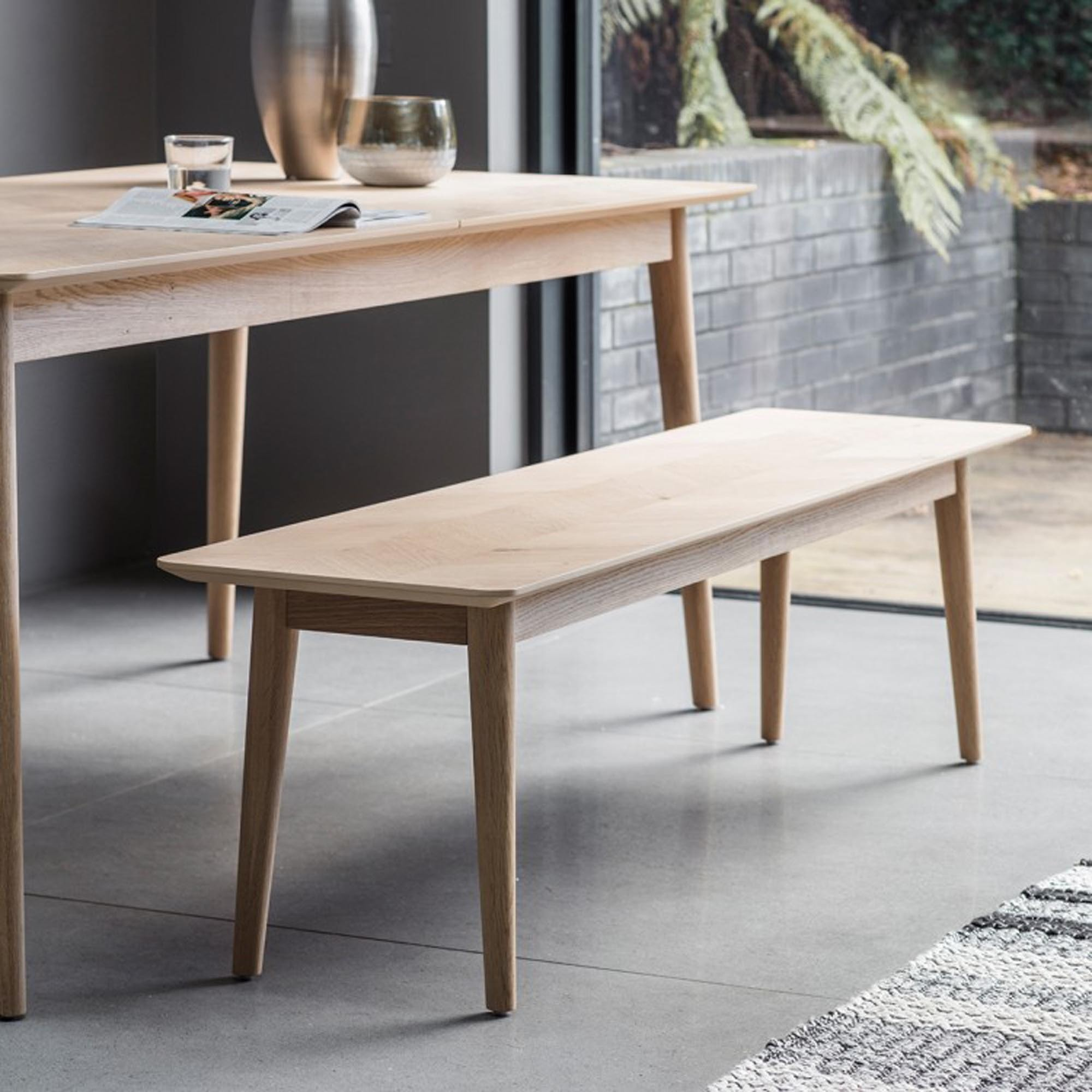 Miraculous Milano Dining Bench Pabps2019 Chair Design Images Pabps2019Com